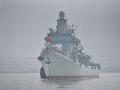 退役珠海艦過境重慶涪陵 市民爭相一睹英姿風采