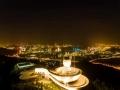 福建厦门:台风科技馆黑白昼夜景色大不同