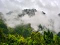贵州铜仁雨后雾气飘渺 青山美如画