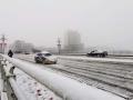 甘肃部分地区出现降雪 道路积雪阻出行
