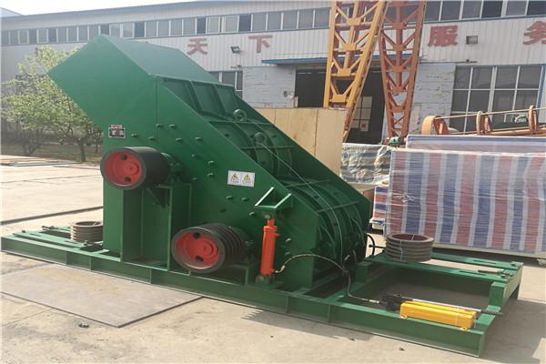 吉林时产20吨半湿物料破碎机使用