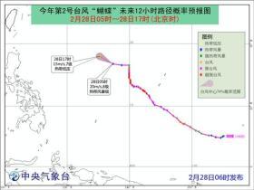 """台风""""蝴蝶""""减弱为热带低压 已停止编号"""