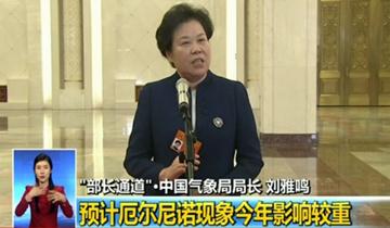 """刘雅鸣在两会""""部长通道""""回应社会关切"""