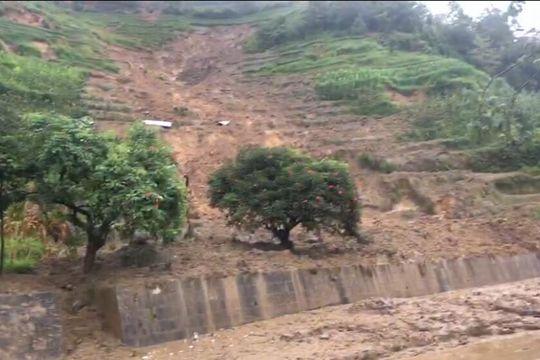 暴雨致云南金平山體滑坡 現場救援緊張進行中
