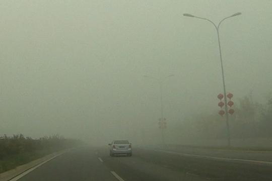 北京遭遇今秋首场大雾