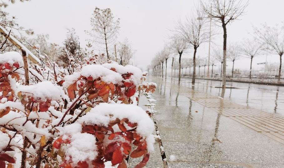 昨天甘肃瓜州迎今冬首场降雪