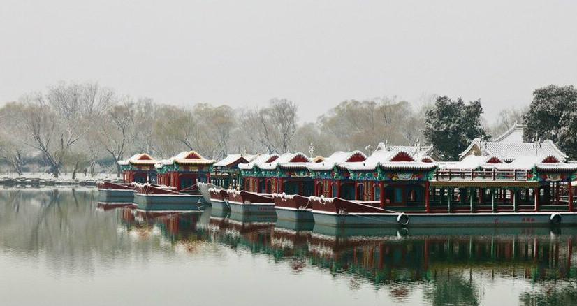 雪后颐和园,一夜穿越回古朝!