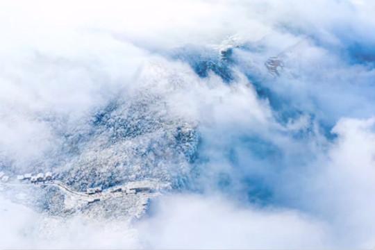 云海仙境 重庆金佛山绝美雪景