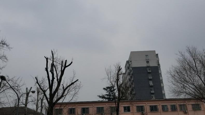 北京今天白天出现飘雪体感阴冷