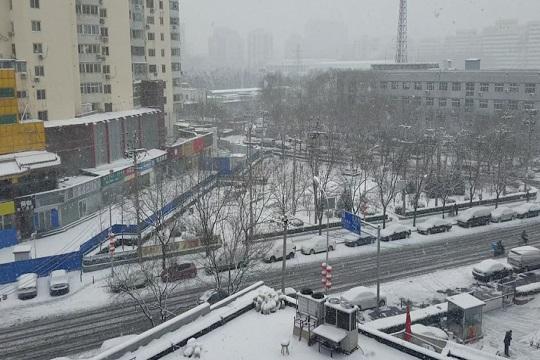 北京全市普降小到中雪局地大雪 午后降雪逐漸結束