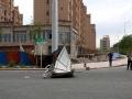 新疆吐鲁番遭遇大风沙尘 局地风力10级