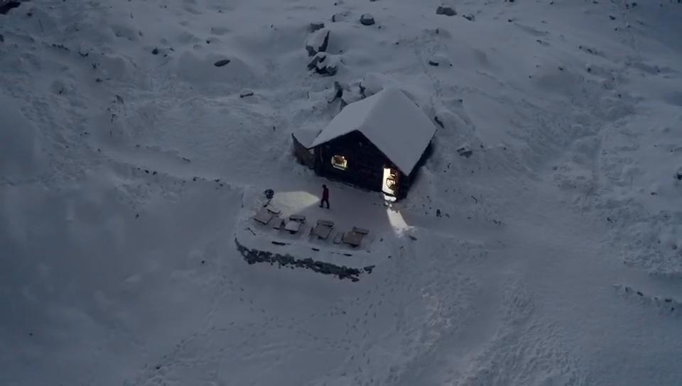寒冬時節 和達古冰川不期而遇