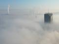 大霧中的吉林 俯瞰冬日江城絕美風景