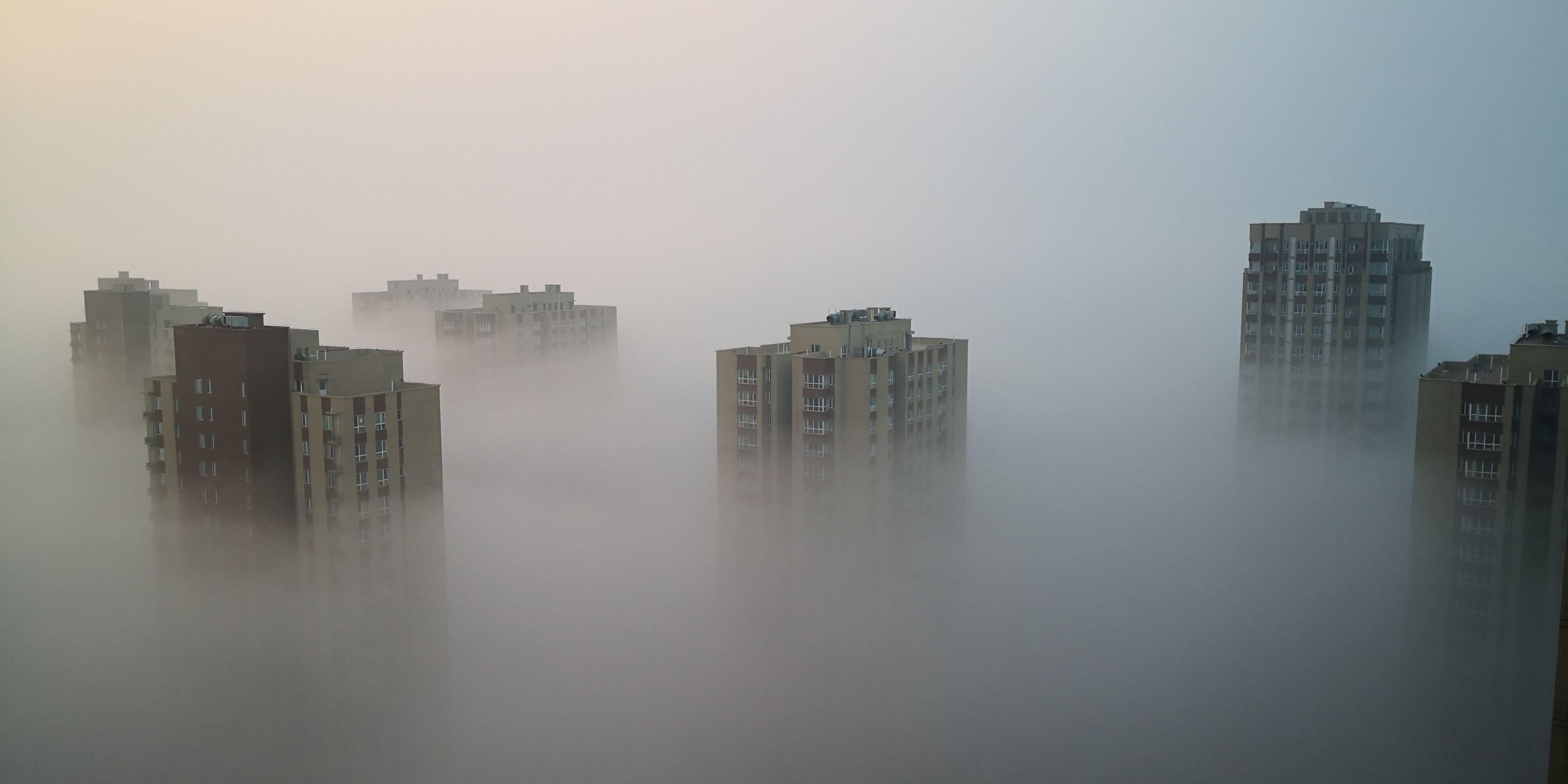 今晨 鄂尔多斯大雾锁城!