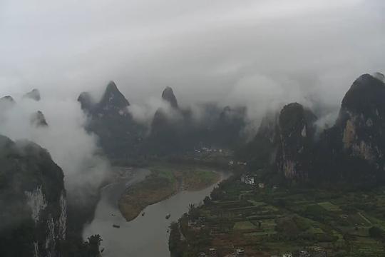 广西桂林雨一直下 降水量破同期纪录