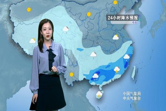 今日江南南部 华南防范强降雨强对流