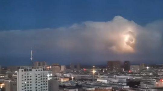 內蒙古壯觀雷暴云團