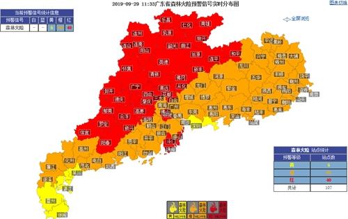 国庆假期广东天气平稳 森林火险等级高