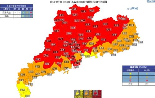 国庆假期广东天气干晴为主 森林火险等级高