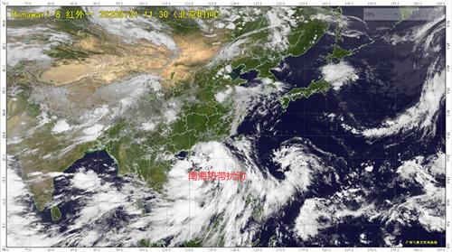热带扰动环流影响 广东有连续强降水