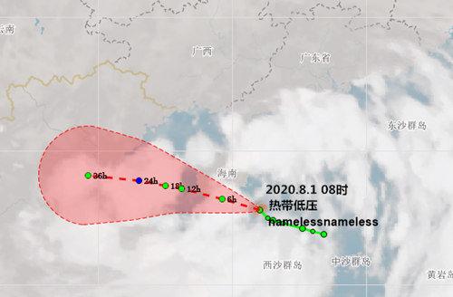 8月初广东南部有持续较强降雨