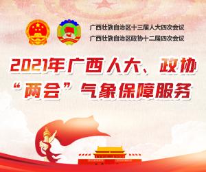 """2021年广西人大、政协""""两会""""气象保障服务专题"""