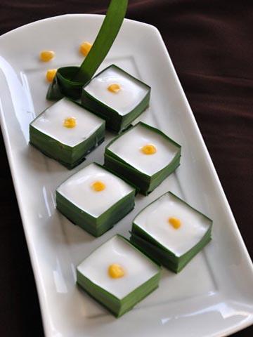 泰国美味甜点-椰汁西米糕