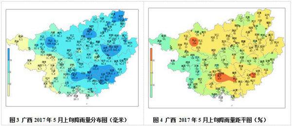 广西2017年5月上旬农业气象旬报