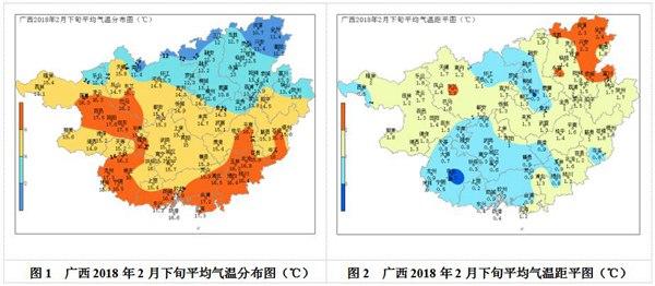 广西2018年2月份农业气象(旬)月报