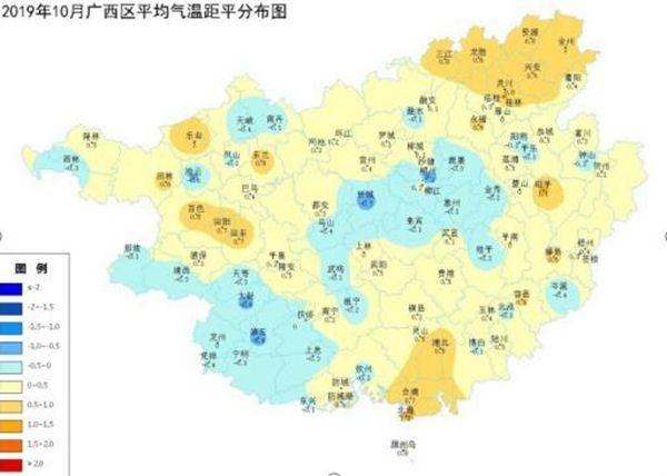 广西2019年10月份农业气象月报