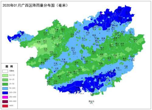 广西2020年02月01日农业气象月报