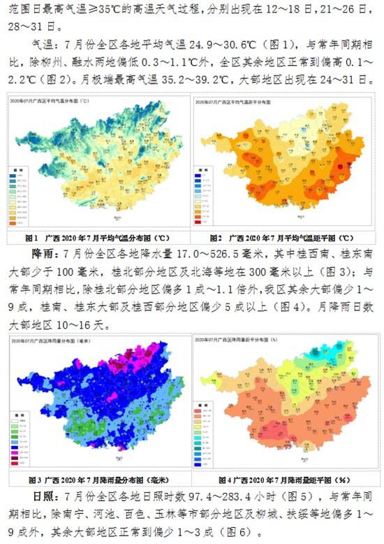 广西贵港天气预报_广西2020年7月农业气象月报 - 气象服务 -中国天气网