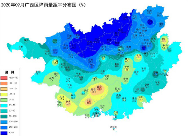 广西2020年9月农业气象月报