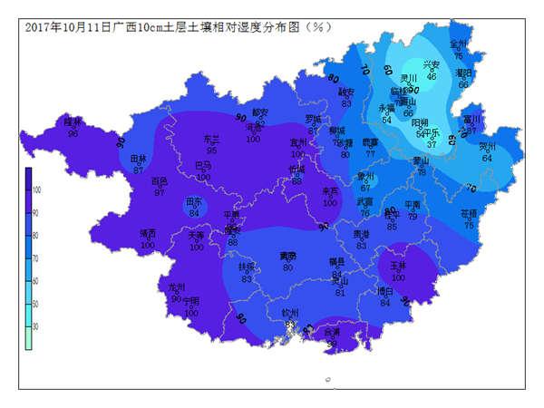 2017年10月11日土壤水分监测预测公报
