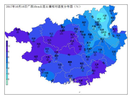 2017年10月16日土壤水分监测预测公报