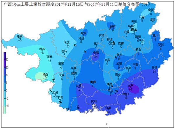 2017年11月16日土壤水分监测预测公报