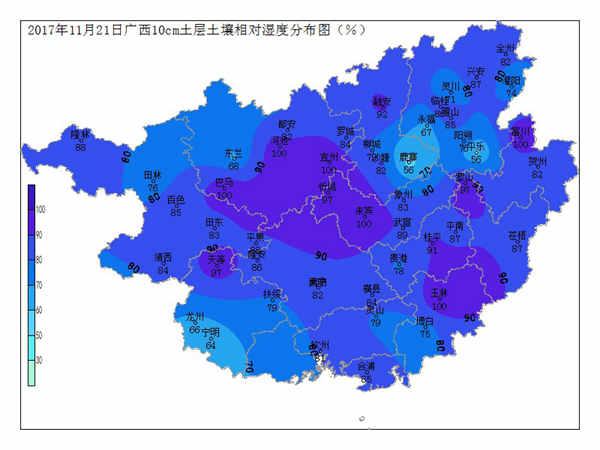 2017年11月21日土壤水分监测预测公报