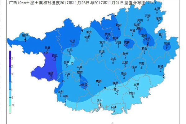 2017年11月26日土壤水分监测预测公报