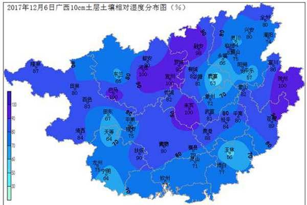 2017年12月6日土壤水分监测预测公报