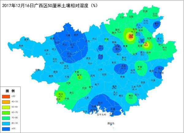 2017年12月16日土壤水分监测预测公报
