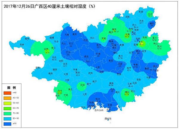 2017年12月26日土壤水分监测预测公报