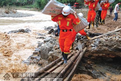凌云突降暴雨5.1万人受灾 全力应对洪涝灾害(图)