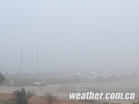 梧州机场现大雾 航班受影响