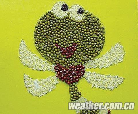 种子粘贴画-国庆文化场馆备下大餐