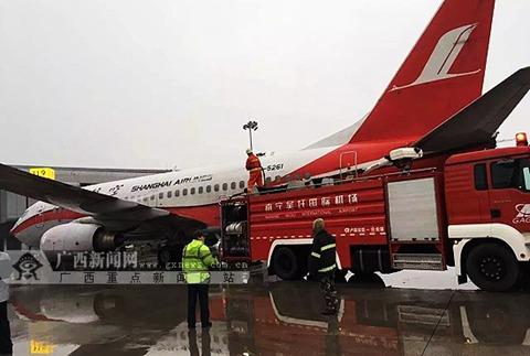 寒潮南宁机场飞机结冰