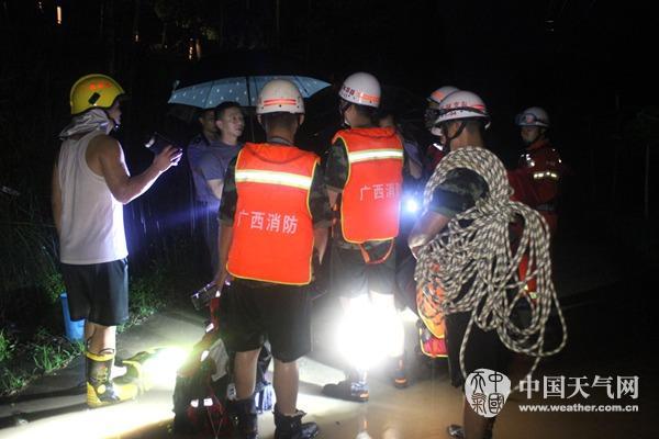 容县再度遭受强降雨袭击
