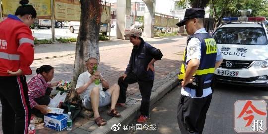柳州一老人被热晕