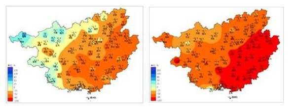 桂东桂南现中到重度气象干旱