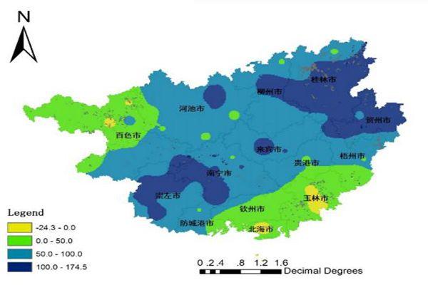 广西汛期林业主要食叶害虫等发生趋势预警