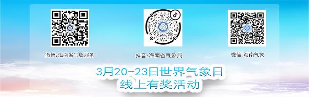 海南省气象局3月23日世界气象日线上有奖活动